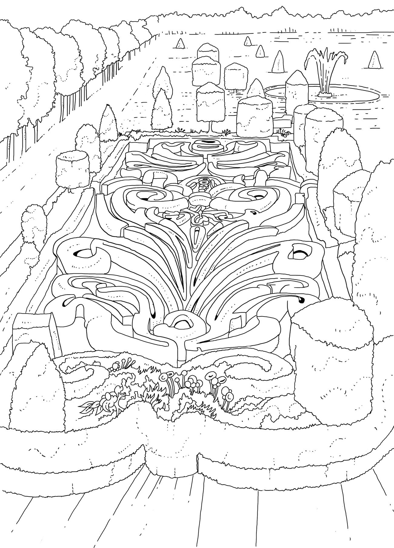 Coloriage Chateau Versailles.Cahier De Coloriages Louis Xiv Et La Vie A Versailles Editions